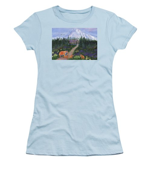Women's T-Shirt (Athletic Fit) featuring the painting Denali by Jamie Frier
