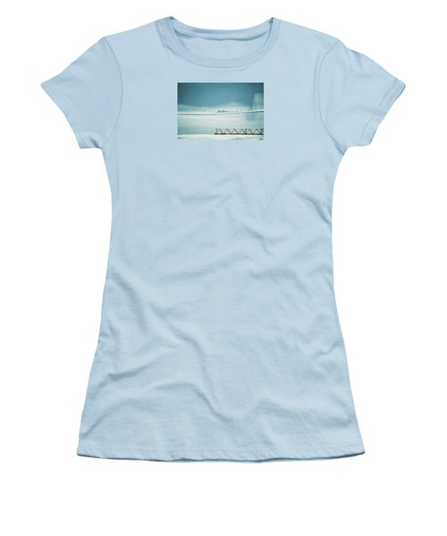 Women's T-Shirt (Junior Cut) featuring the photograph Designs And Lines - Winter In Switzerland by Susanne Van Hulst