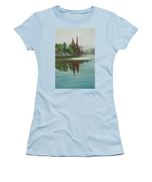 Dhanmondi Lake 04 Women's T-Shirt (Junior Cut) by Helal Uddin
