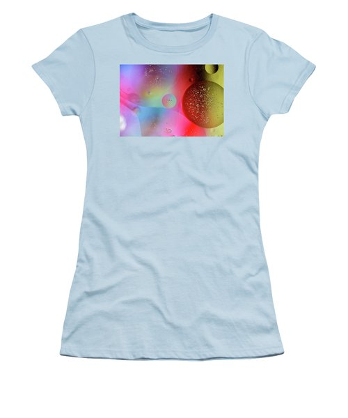 Women's T-Shirt (Athletic Fit) featuring the photograph Digital Oil Drop Abstract by John Williams