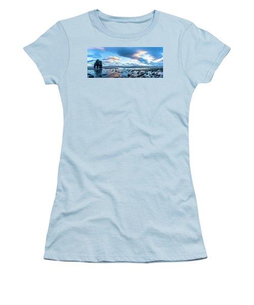 Dinosaur Rock Beach In Iceland Women's T-Shirt (Junior Cut) by Joe Belanger
