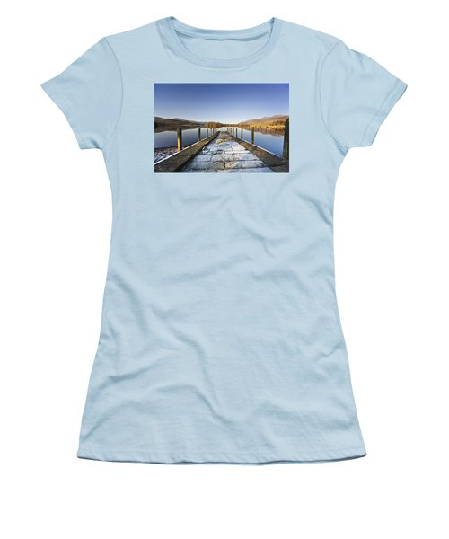 Dock In A Lake, Cumbria, England Women's T-Shirt (Athletic Fit)