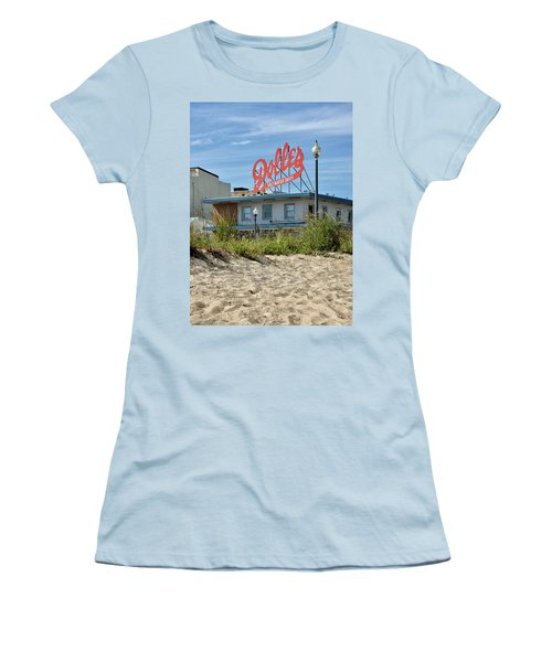 Women's T-Shirt (Junior Cut) featuring the photograph Dolles From The Beach - Rehoboth Beach Delaware by Brendan Reals