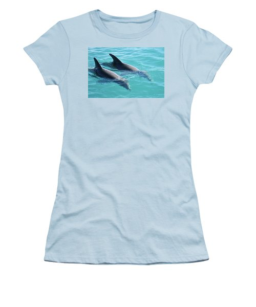 Dolphins Women's T-Shirt (Athletic Fit)
