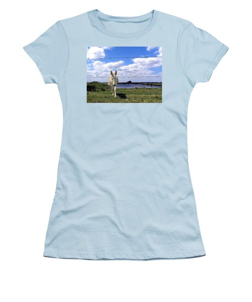 Women's T-Shirt (Junior Cut) featuring the photograph Don't Fence Me In 002 by Chris Mercer