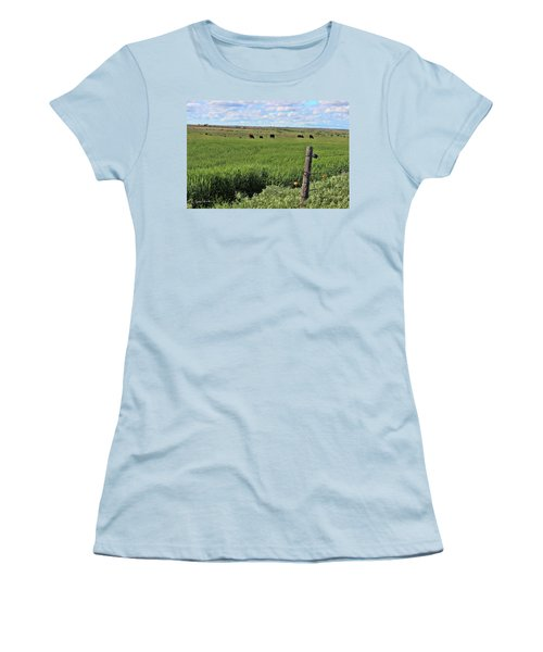 Don't Fence Me In Women's T-Shirt (Junior Cut) by Sylvia Thornton