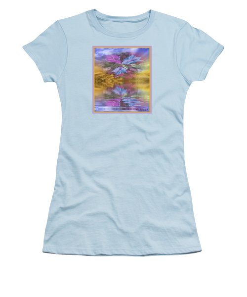 Women's T-Shirt (Junior Cut) featuring the mixed media Dont Go Away by Ray Tapajna
