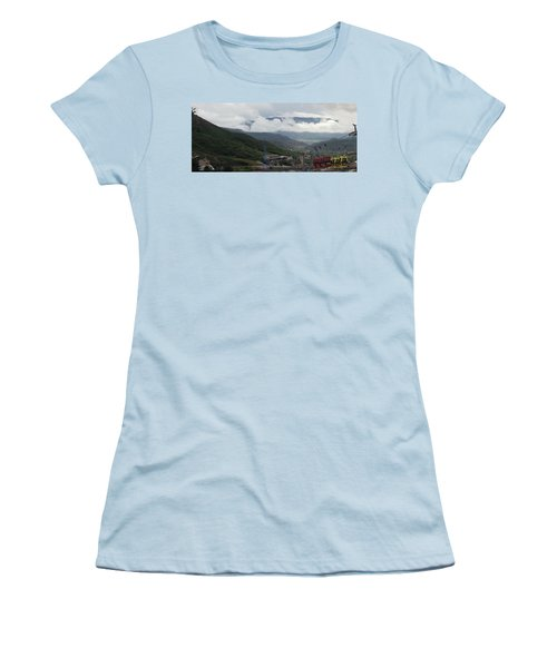Down The Valley At Snowmass #3 Women's T-Shirt (Athletic Fit)