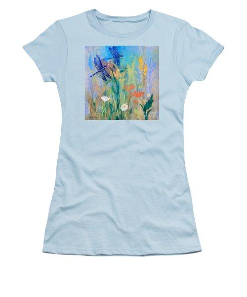Dragonflies In Wild Garden Women's T-Shirt (Athletic Fit)