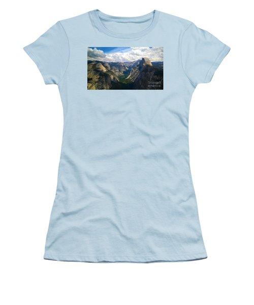 Dramatic Yosemite Half Dome Women's T-Shirt (Junior Cut) by Debra Thompson