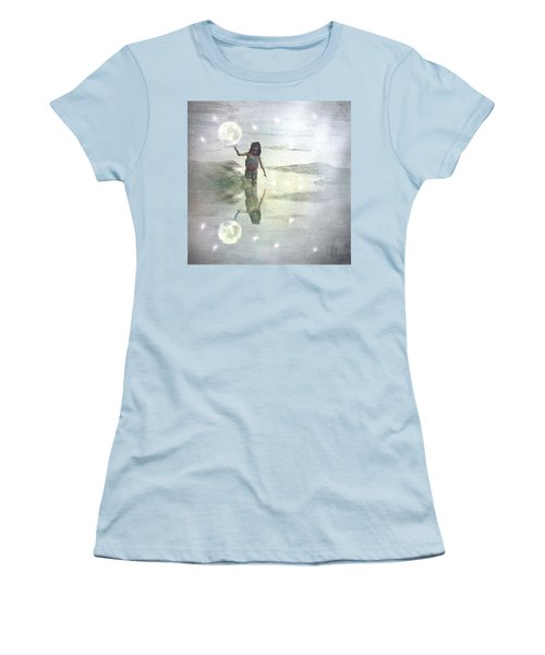 To Touch The Moon Women's T-Shirt (Athletic Fit)