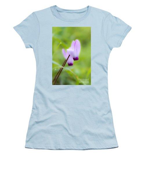 Dream On Purple Dew Drops Women's T-Shirt (Junior Cut) by Arik Baltinester