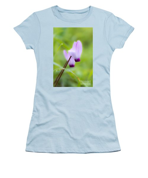 Dream On Purple Dew Drops Women's T-Shirt (Athletic Fit)
