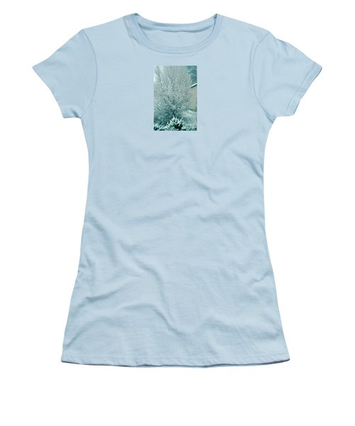 Women's T-Shirt (Junior Cut) featuring the photograph Dreaming Of A White Christmas - Winter In Switzerland by Susanne Van Hulst