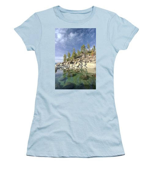 Women's T-Shirt (Athletic Fit) featuring the photograph Dreaming Pond by Sean Sarsfield