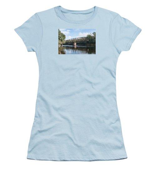 Drew Bridge Women's T-Shirt (Junior Cut) by John Black