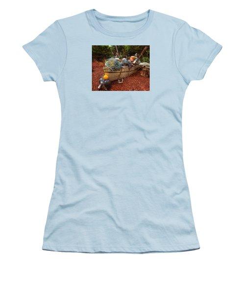 Women's T-Shirt (Junior Cut) featuring the photograph Dry Dock Art by Thom Zehrfeld
