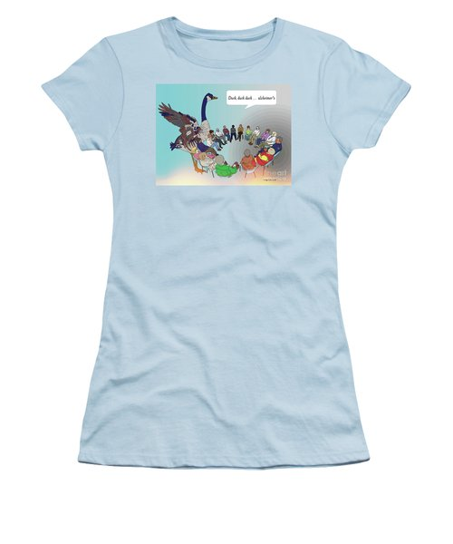 Duck, Duck, Alzheimers Women's T-Shirt (Athletic Fit)