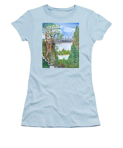 Dueling Lakes Women's T-Shirt (Athletic Fit)