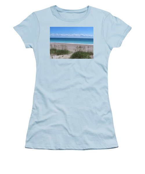 Women's T-Shirt (Junior Cut) featuring the photograph Dunes On The Outerbanks by Sandi OReilly