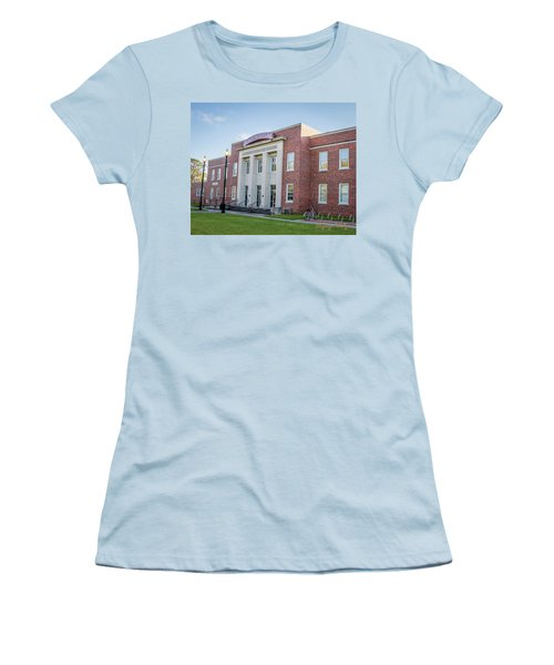 E K Long Building Women's T-Shirt (Athletic Fit)