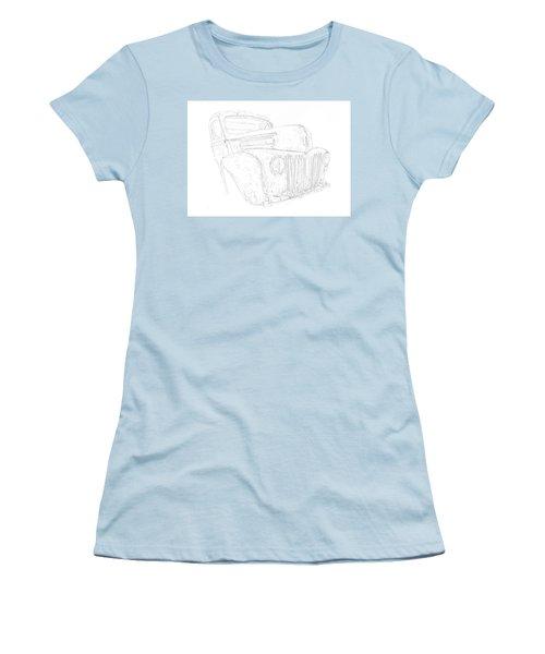 Early Ford Truck Women's T-Shirt (Junior Cut) by Jeffrey Jensen