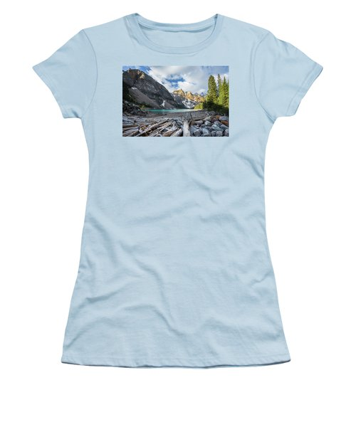 Early Morning At Moraine Lake Women's T-Shirt (Athletic Fit)
