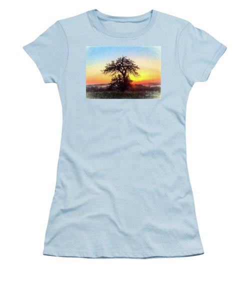 Early Morning Sunrise Women's T-Shirt (Junior Cut) by Jim Lepard