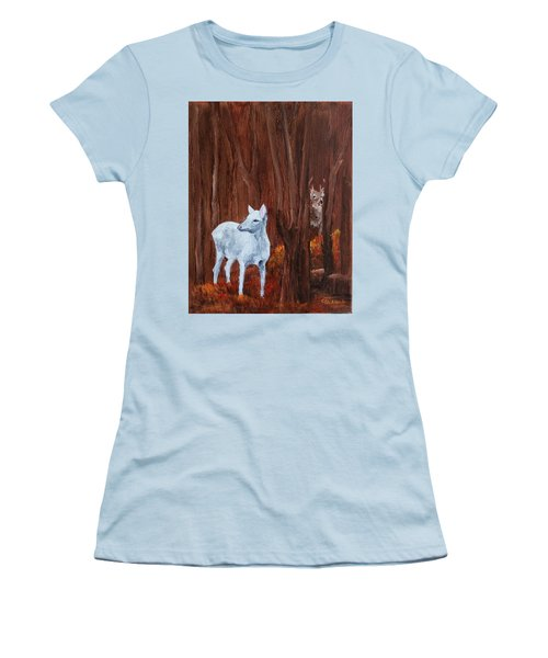 East Aurora Albino Deer,  Women's T-Shirt (Athletic Fit)