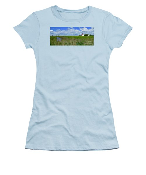East Point Lighthouse Across The Marsh  Women's T-Shirt (Athletic Fit)
