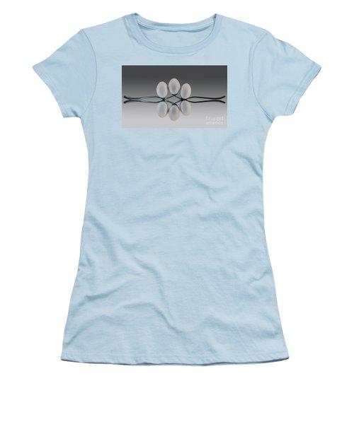 Egg Balance Women's T-Shirt (Junior Cut) by Shirley Mangini