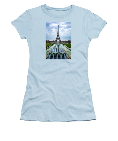 Eiffeltower From Trocadero Garden Women's T-Shirt (Junior Cut) by Rainer Kersten