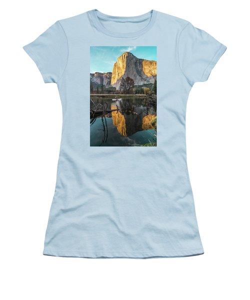 El Capitan Sunset Women's T-Shirt (Junior Cut) by Alpha Wanderlust