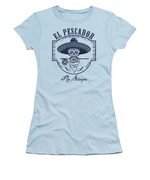 El Pescador Women's T-Shirt (Junior Cut) by Kevin Putman