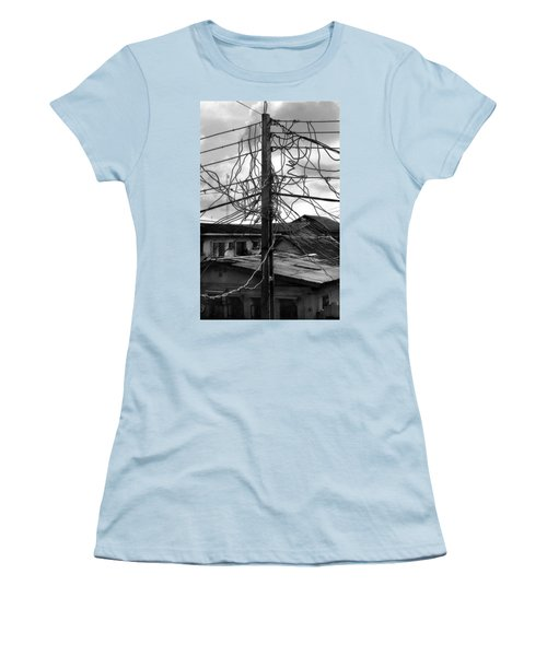 Up Nepa Electricity Pole Women's T-Shirt (Athletic Fit)