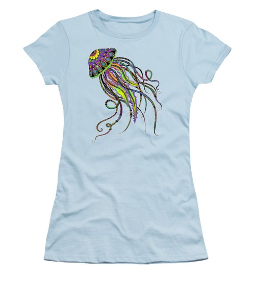 Electric Jellyfish Women's T-Shirt (Athletic Fit)