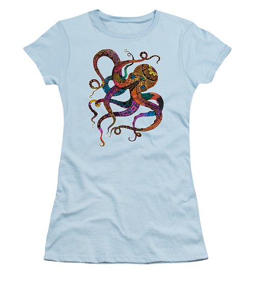 Electric Octopus Women's T-Shirt (Athletic Fit)