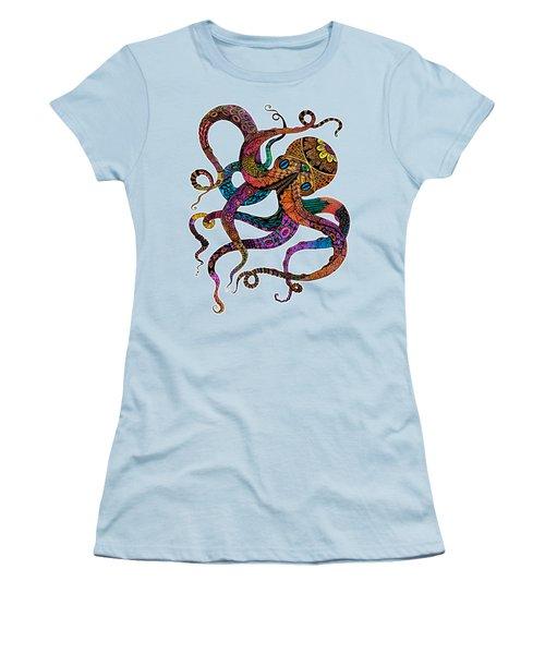Electric Octopus Women's T-Shirt (Junior Cut)