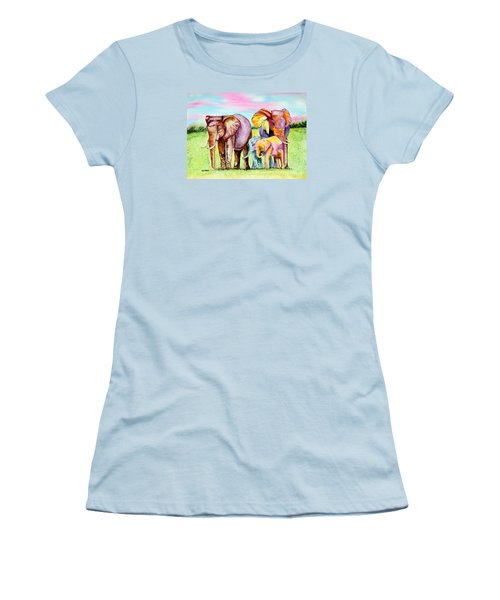 Elephant Aura Women's T-Shirt (Athletic Fit)