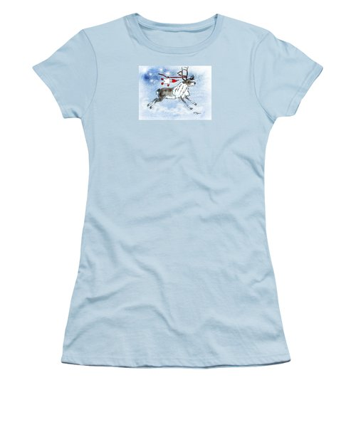 Elf And Reindeer Women's T-Shirt (Athletic Fit)