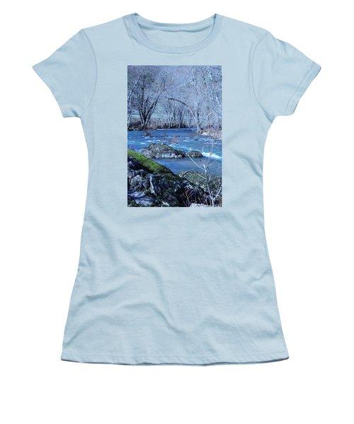 Women's T-Shirt (Junior Cut) featuring the photograph Elk Creek Wonderland by Marie Neder