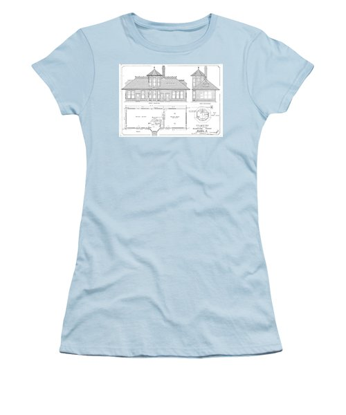 Elyria, Oh Station Women's T-Shirt (Athletic Fit)