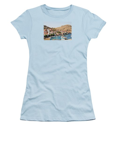 Emborio Village On Halki Women's T-Shirt (Athletic Fit)