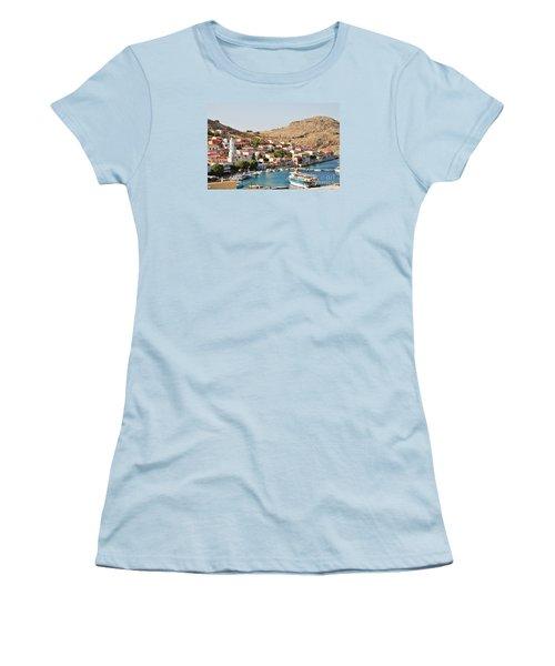 Emborio Village On Halki Women's T-Shirt (Athletic Fit)