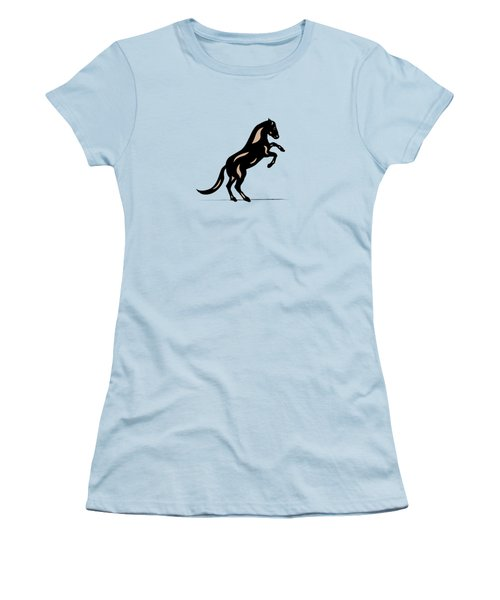 Emma II - Pop Art Horse - Black, Hazelnut, Island Paradise Blue Women's T-Shirt (Athletic Fit)