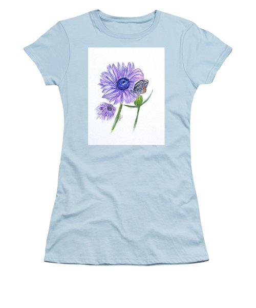 Erika's Butterfly Three Women's T-Shirt (Junior Cut) by Clyde J Kell