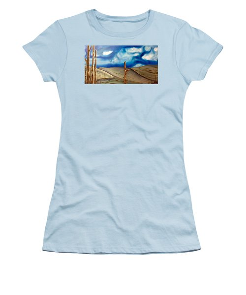 Women's T-Shirt (Junior Cut) featuring the painting Escape by Pat Purdy