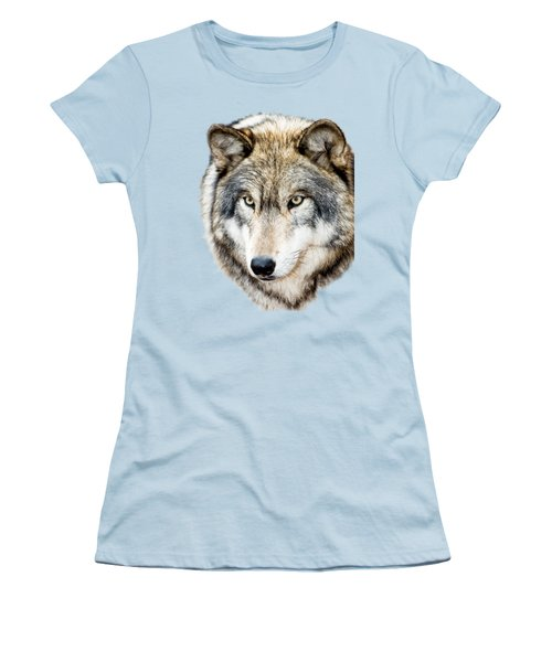 Women's T-Shirt (Junior Cut) featuring the photograph Essence Of Wolf by Gary Slawsky