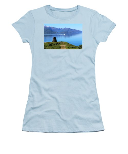 Evenes, Fjord In The North Of Norway Women's T-Shirt (Athletic Fit)