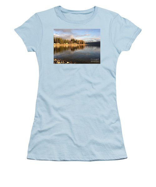 Women's T-Shirt (Junior Cut) featuring the photograph Evening By The Lake by Victor K
